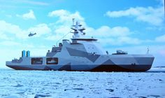 "The first ""Project 23550"" multipurpose Arctic patrol ship. (Illustration: Russian Ministry of Defense)"