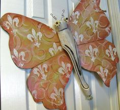 Table Leg Butterfly Mariposa Wall Art Pink by LucyDesignsonline,