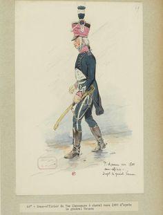Sous officier du 7ème régiment de Chasseurs à cheval vers 1800