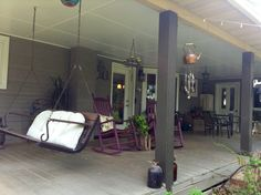 What a cozy back porch!