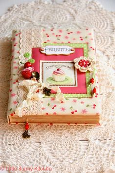 A handmade recipe notebook! Love it!!!!