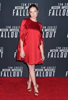 "Rebecca Ferguson at the ""Mission: Impossible - Fallout"" Premiere Washington D.C July, Rebecca Ferguson, Mission Impossible, Fallout, Washington, Cold Shoulder Dress, Dresses, Women, Fashion, Vestidos"