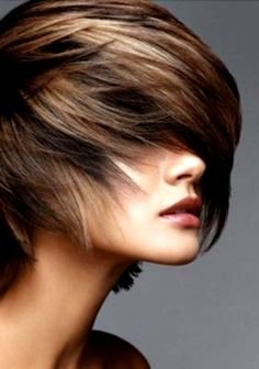 If i chop my hair off.. this style will be the one &   Love the color!  Kim would love this too!