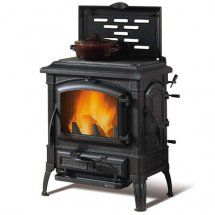 La Nordica Isetta Wood Burning Stove With Cooking Plate