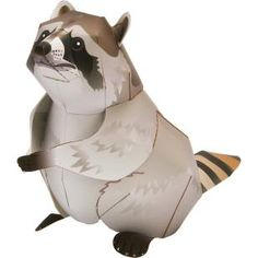Raccoon,Animals,Paper Craft,Mammals ,Animals,Paper Craft,Pet series,easy,easy
