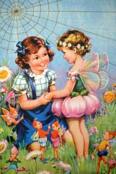 Themes Vintage illustrations/pictures - An Angel in the Garden (150 pieces)
