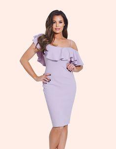 Jessica Wright Ruffle Bardot Bodycon Dress JESSICA WRIGHT RUFFLE BARDOT BODYCON DRESS £60.00