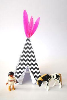 make a mini teepee | printable