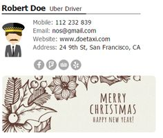 Email Signature With Christmas Banner Signatures Banners