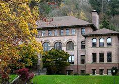 Old Main - University of Western Washington. Bellingham, Washington  @livegoodbehappy- once sledded down the lawn on lunch trays!!