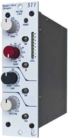 So many classic performances were recorded with Neve preamps; get that classic sound in your studio with the Rupert Neve designs 511 preamp