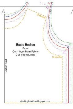 FREE basic bodice pattern - sizes 18 months to Kids Patterns, Sewing Patterns Free, Free Sewing, Clothing Patterns, Sewing Hacks, Sewing Tutorials, Sewing Crafts, Sewing Projects, Free Tutorials