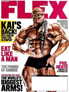 FLEX Magazine May 2016 KAI GREENE Cover, PHIL HEATH Legs, Summer Shred Plan -NEW