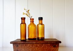 Items I Love by Maria on Etsy Amber Bottles, Kitchenware, Just Love, Liquor Cabinet, Etsy, Home Decor, Decoration Home, Room Decor, Kitchen Gadgets