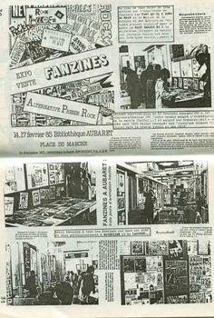Expo Vente FANZINES, David Dufresnes, 1985, Poitiers, Hotel Aubaret.