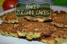Baked Zucchini Cakes.  A wonderful healthy side dish...or even alone. :-)
