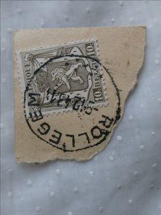 Belgique Belgium Stamp, 10c Coat of Arms Used w/ Rollegem Postmark
