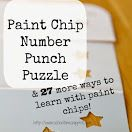 Paint Chip Number Punch Puzzle & 27 More Ways to Learn with Paint Chips