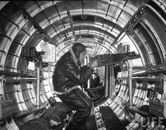 """A waist gunner on the B-17 bomber """"Memphis Belle"""""""