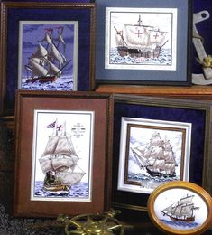 Five attractive sailing ship designs from a bygone age.