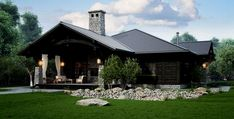 ideas home rustic country woods for 2019 Style At Home, Cottage Plan, Stone Houses, Ranch Style, Design Case, Rustic Design, Modern House Design, Log Homes, Home Fashion