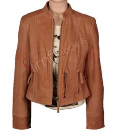 Women's Island Lived-In Brown leather Jacket. #Fashion #Jacket #outfit #Women #Menswear #Coat #Kids leatherjacket - For more queries visit: Slimfitjackets.com