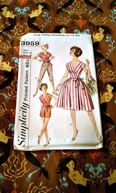 Vintage 1960's Simplicity Pattern 3959 Play by ConstantlyAlice, $9.00