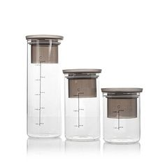 Curtis Stone 3-piece Measure and Store Canister Set