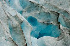 Glacier Ice detail closeup of Exit Glacier in Alaska, deep blue ice. $25.00, via Etsy.