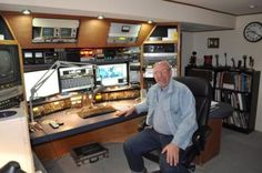 """Over 1 year since I built the shack.. New LCD 22""wide Monitors and ME"" - Ham Radio Pictures"