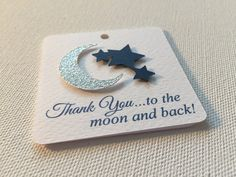 Moon Star Favor Baby Shower Tag, baby, boy, girl, gender neutral, stars, moon, dimensional,  customized, personalized, 12 per pack
