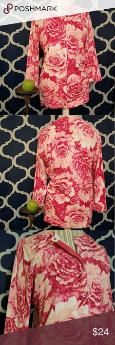 🌻🌺🌻ISAAC MIZRAHI BEAUTIFUL FLORAL CARDIGAN!! SIZE:medium   BRAND:Isaac Mizrahi   CONDITION:like new, no flaws   COLOR:pink and white  Perfect for easter and spring time!!   🌟POSH AMBASSADOR, BUY WITH CONFIDENCE!   🌟CHECK OUT MY OTHER ITEMS TO BUNDLE AND SAVE ON SHIPPING!   🌟OFFERS WELCOME!   🌟FAST SHIPPING! Isaac Mizrahi Sweaters Cardigans