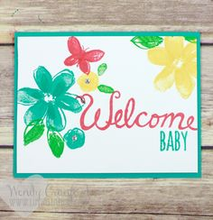Garden in Bloom stamp set and the Welcome Words stamp set