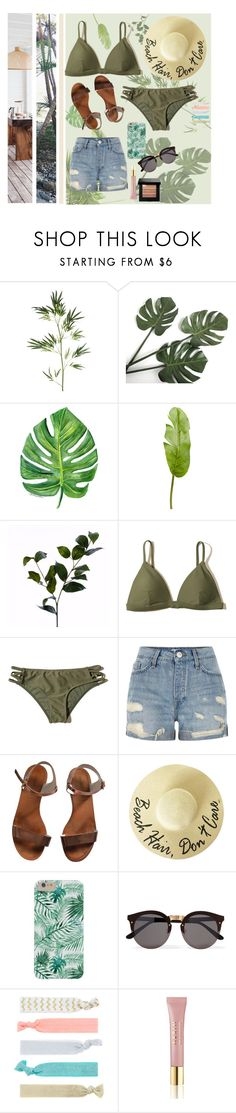 """im just beachy"" by keiberweebers ❤ liked on Polyvore featuring Pier 1 Imports, Wyld Home, Hollister Co., River Island, Emporio Armani, Illesteva, Accessorize, AERIN, Bobbi Brown Cosmetics and TropicalVacation"