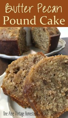 Butter Pecan Pound Cake ⋆ One Acre Vintage & Pumpkin Patch Mtn.Butter Pecan Pound Cake ⋆ One Acre Vintage & Pumpkin Patch Mtn.Butter Pecan Pound Cake ⋆ One Acre. Food Cakes, Cupcake Cakes, Bundt Cakes, Carrot Cakes, Cake Icing, Cupcake Toppers, Just Desserts, Delicious Desserts, Pecan Desserts