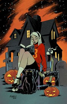 Sabrina at Halloween - Gleb Melnikov Halloween Tattoo, Halloween Nail Art, Halloween Costumes, Halloween Makeup, Halloween Decorations, Halloween Recipe, Outdoor Decorations, Halloween Projects, Halloween Signs