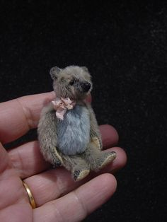 "Junie, Miniature 2 1/4"" Artist Bear from Aerlinn Bears. via Etsy."