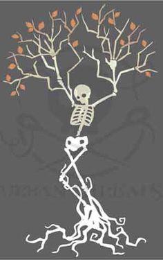 Skeleton Tree design (UTC3852) from UrbanThreads.com