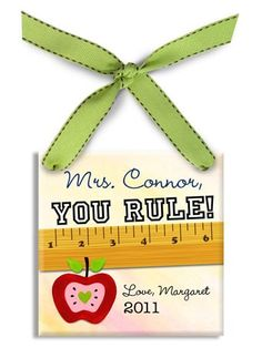 You Rule Personalized Christmas Ornament - great gift for a teacher!