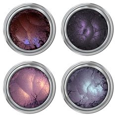 "Black Magic Collection Bestselling Mineral Eyeshadow sets are back in stock! ""We are those weirdos, mister."" Unique purples, plus magical duochromes, equal the perfect shades for conjuring up Pretty Makeup, Love Makeup, Makeup Inspo, Makeup Set, Eyeshadow Set, Mineral Eyeshadow, Cream Eyeshadow, Liquid Eyeshadow, Gel Eyeliner"
