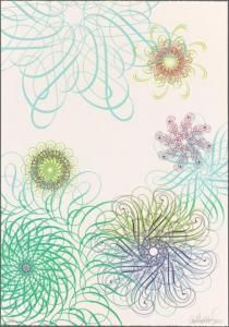 """A piece from """"A Century of Art"""" (Oct 14, 2011 - Jan. 14, 2012). Ryan McGinness, Untitled lithograph, 2006."""
