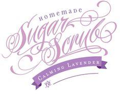 lavender sugar scrub labels - Google Search