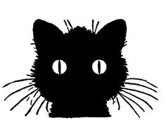 Cat and Dog Silhouette Clip Art | Vintage Kids Printable – Draw Some Cats
