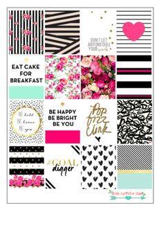 Pink Chic Stickers For Erin Condren