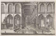 Jan Veenhuysen   Interieur van de Nieuwe Kerk te Amsterdam, naar het westen gezien, Jan Veenhuysen, 1665  
