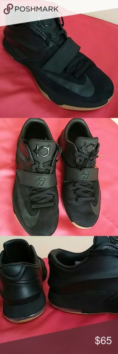 Nike Kd 7 EXT Suede QS #717593 001..Awesome!!! Shoes shows minimal signs of use. The only minor sign of use is this scuff( hardly to see) by the ankle of shoes..hence i would have rated this 9/10 but will give it 8.5/10. Shoes is worn approximately 8-10 times. Purchased from Nike for $159 on sale just four months ago. Nike Shoes Sneakers