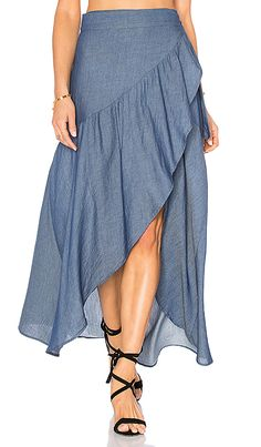 Shop for Stillwater Wrap Sum Den Skirt in Indigo at REVOLVE. Free day shipping and returns, 30 day price match guarantee. Skirt Outfits, Dress Skirt, Cool Outfits, Casual Outfits, Dress Up, Sexy Skirt, Dress Shoes, Shoes Heels, Modest Fashion