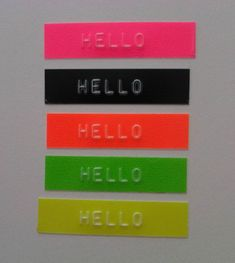 Dymo labels in neon!  Have a bag of these somewhere!