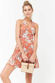 03fbe719bc3 Forever 21 Floral Print Halter Dress Forever 21 Dresses