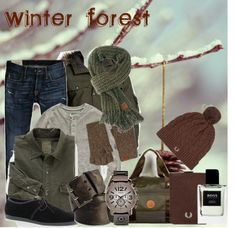 """Winter Forest"" by ryandavis-97 ❤ liked on Polyvore"